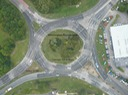 Mannington Roundabout after upgrade and re-paint