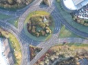 The Meads spiral roundabout